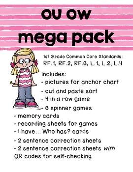 ou ow Phonics Game Mega Pack