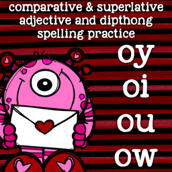 Dipthong Practice - ow, ou, oi, oy - 2nd Grade Spelling - Valentine's Day