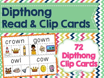 Diphthong Read & Clip Cards