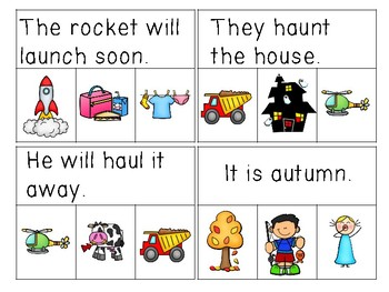 Diphthong Sentences Read & Clip Cards