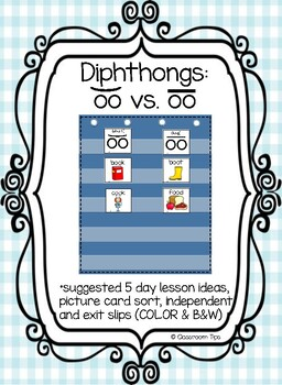 Dipthong Sort: OO  & OO (Color and B&W)