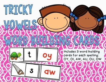 Diphthong Word Building Cards