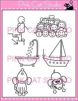 """Diphthong """"ow"""" Phonics Clip Art Set - Commercial Use Okay"""