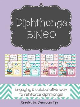Dipthongs BINGO Bundle (ALL, and in COLOR & BW)