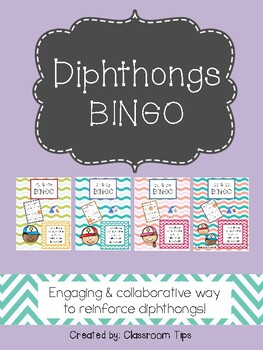 Dipthongs BINGO Bundle (ALL, and in COLOR & BW)