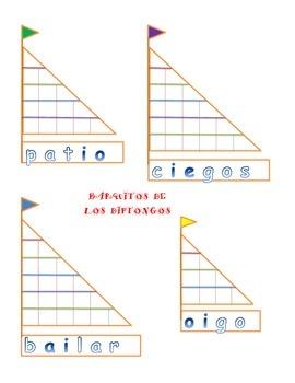 Diphthongs - Barquito de los Diptongos - io, ie, ue, ua - Center - Spanish