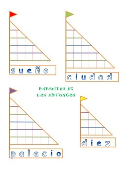 Diphthongs - Barquito de los Diptongos - io, ie, ue, ua - Center - Spanish