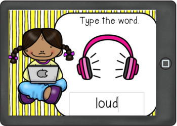 Diphthongs Boom Cards Type the Words