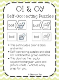 Diphthongs: OI & OY Self-Correcting Puzzles