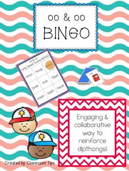 Dipthongs: OO  & OO BINGO (Color and B&W)