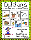 Diphthongs ~ Pocket Chart Sort with Matching Word Cards