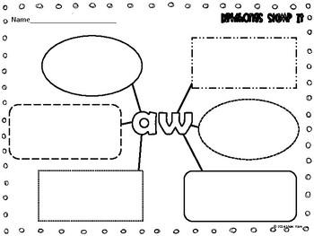 Dipthongs {Stamp It} Word Work [Reading] Station Center Printable