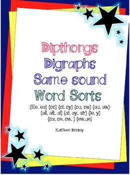 Intermediate Phonics--Dipthongs and Digraph Word Sorts