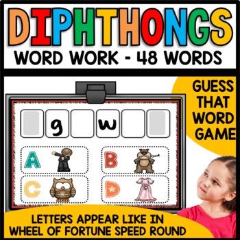 Dipthongs (au, aw, ew, oi, oo, ou, ow, oy) Practice