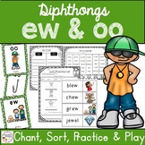 Diphthongs ew oo  - Print and Digital Distance Learning Activities - Google Apps