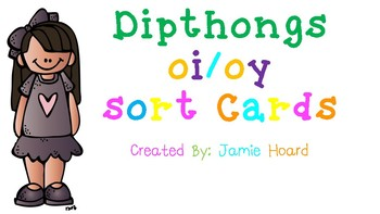Dipthongs oi/oy sort cards