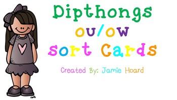 Dipthongs ou/ow Sort Cards