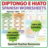 Diptongo e Hiato - Spanish Worksheets