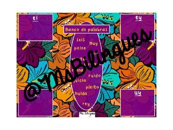 Diptongos ei, ey, ui, uy Interactive Mimio Board Activity