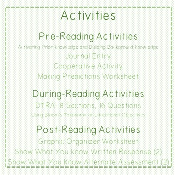 Dircted Reading Thinking Activity DRTA-Abuela by Arthur Dorros