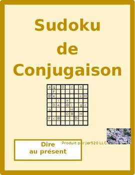 Dire French verb Present tense Sudoku