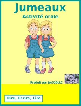 Dire, Écrire, Lire French verbs Jumeaux Speaking activity