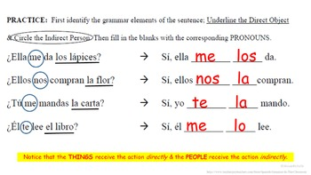 Direct AND Indirect Object Pronouns in Spanish: Multiple Pronouns Present Tense