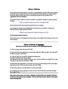 Direct Address Mini Lesson Using Sounder