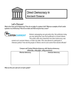 Direct Democracy in Athens
