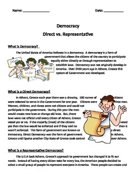 Grade 6 Online History Democracy Worksheet. For more worksheets ...