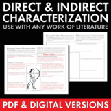 Direct & Indirect Characterization, Fun Print-and-Teach Handout, Use w/ANY Lit.
