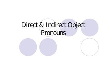 Direct & Indirect Object Pronouns