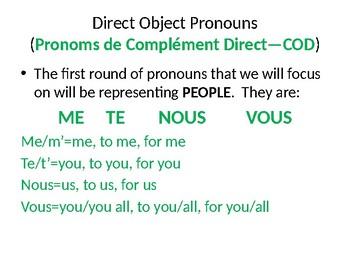 Direct/Indirect Object Pronouns
