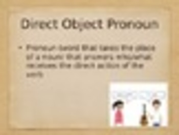 Spanish Direct & Indirect Object Pronouns Keynote Presentation for Mac
