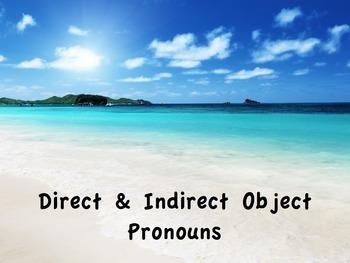 Spanish Direct & Indirect Object Pronouns Keynote Presenta