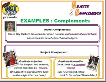Direct & Indirect Objects: Graphic Organizer, Examples, Quiz w/ Answer Key