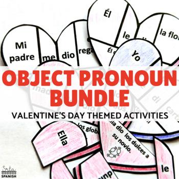 Direct Indirect and Double Object Pronoun Valentine's Theme BUNDLE