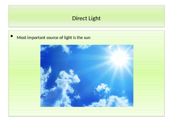 Direct, Indirect, and Reflected Light