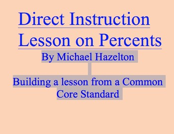 Direct Instruction 5th Grade Percents