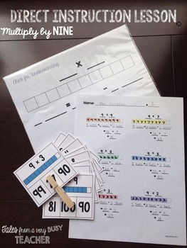 Direct Instruction Lesson {Multiply by NINE}