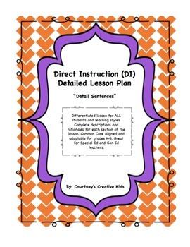 Direct Instruction Lesson Plan for Teaching Detail Sentenc