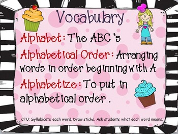 Alphabetical (ABC) Order PowerPoint Lesson, Scoot, and Center Activity