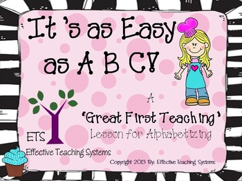 Alphabetical (ABC) Order PowerPoint Lesson, Scoot, and Cen