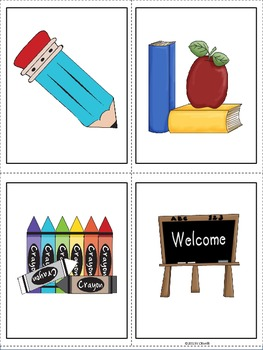 ESL Direct Instruction Vocabulary Cards for Early Primary and Newcomer Students