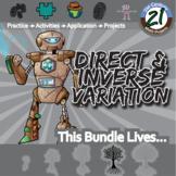 Direct & Inverse Variation -- Algebra 1 Curriculum -- Essential Unit Bundle