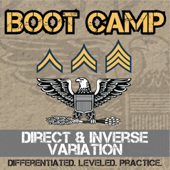 Direct & Inverse Variation Boot Camp -- Differentiated Practice Assignments