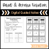 Direct & Inverse Variation Guided Notes - Digital