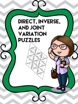 Direct, Inverse, and Joint Variation Cut Apart Puzzle