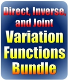 Direct, Inverse, and Joint Variation Functions Bundle - Di