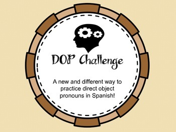 Direct Object Pronoun Challenge Game